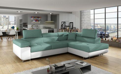 Угловый диван - Anton (Pаскладной с ящиком для белья)
