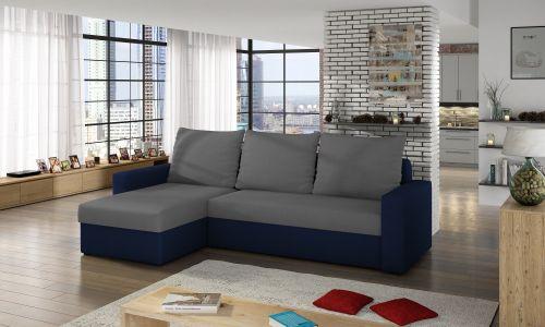 Угловый диван - Livio (Pаскладной с ящиком для белья)
