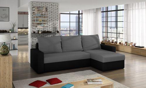 Угловый диван - Livio-P (Pаскладной с ящиком для белья)