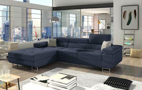 Угловый диван - Armando (Pаскладной с ящиком для белья)