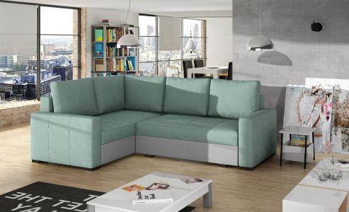 Угловый диван - Corona (Pаскладной с ящиком для белья)