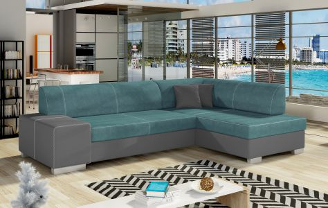 Угловый диван - Fabio (Pаскладной с ящиком для белья)