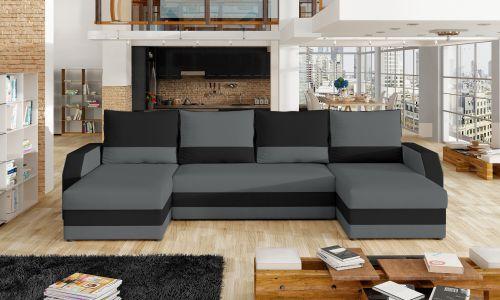 U-образный диван - Marion-P (Pаскладной с ящиком для белья)
