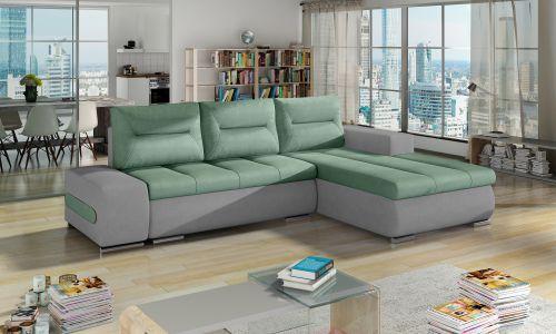 Угловый диван - Ottavio (Pаскладной с ящиком для белья)