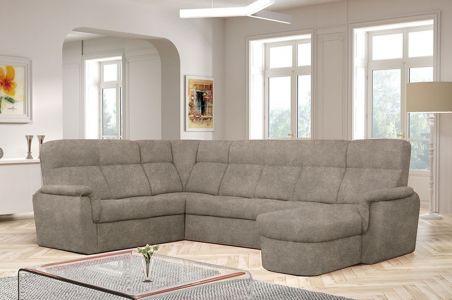 U-образный диван - Prato (Pаскладной с ящиком для белья)