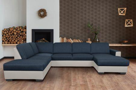U-образный диван - Chantal (Pаскладной с ящиком для белья)