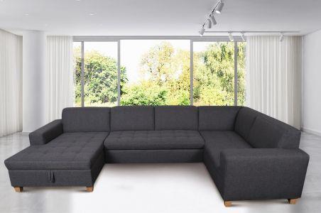 U-образный диван - Sugar-P (Pаскладной с ящиком для белья)
