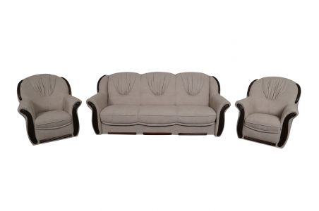 Dīvānu komplekts 3-1-1 - Martyna (Izvelkams ar veļas kasti)