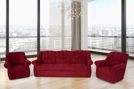 Комплект диванов 3-1-1 - Olbia (Pаскладной с ящиком для белья)