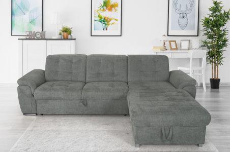 Угловый диван - Bilbao (Pаскладной с ящиком для белья)