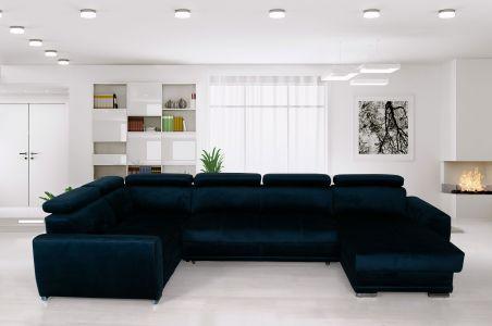 U-образный диван - Moon Maxi (Pаскладной с ящиком для белья)