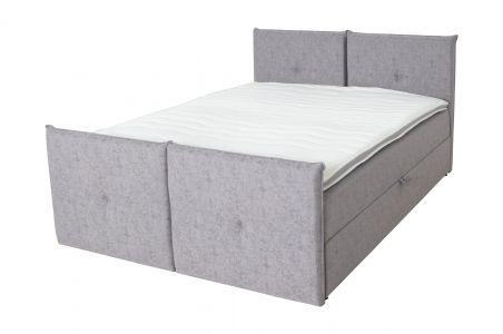 Kontinentālā gulta 160x200 - Sawio (Izvelkams ar veļas kasti)