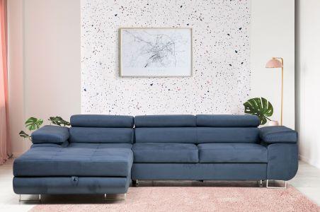 Угловый диван - Elma (Pаскладной с ящиком для белья)