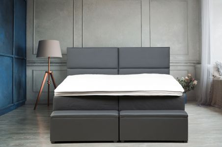 Boxspring bed 140x200 - Melfi (with laundry compartment)