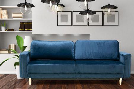 Trīsvietīgs dīvāns - Glam (Izvelkams ar veļas kasti)