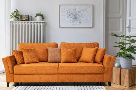 Trīsvietīgs dīvāns - York (Izvelkams ar veļas kasti)