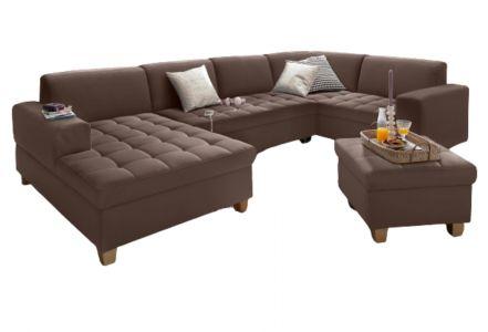 U formas dīvāns - Corby (Izvelkams ar veļas kasti)