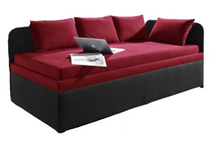 Upholstered bed 90x200 - Studiolige (with laundry compartment)