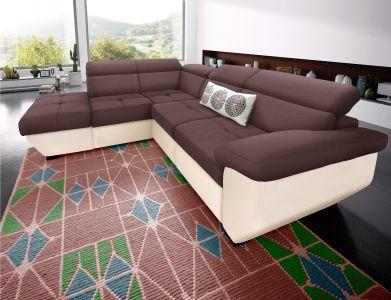 Melns stūra dīvāns