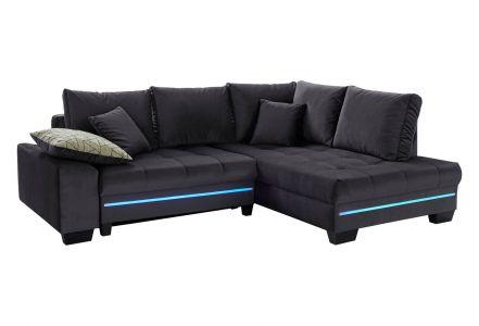 Sofa L-Form Nikita 2 - mit Sound und Schlaffunktion - Anthrazit