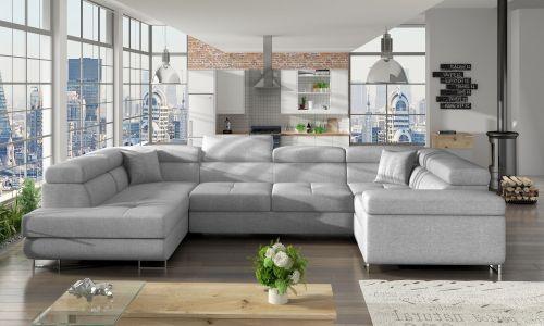 U-образный диван - Letto (Pаскладной с ящиком для белья)