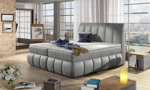 Boxspring bed 180x200 - Vincenzo-P (Pull-out with laundry compartment)