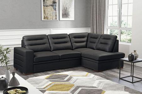 Stūra dīvāns - Caro-P (Izvelkams ar veļas kasti)