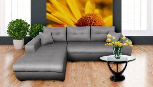 Угловый диван - Virginia (Pаскладной с ящиком для белья)