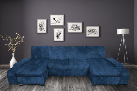 U-образный диван - Milan (Pаскладной с ящиком для белья)