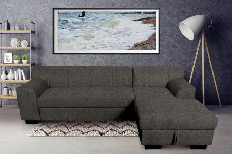 Угловый диван - Falk-P (Pаскладной с ящиком для белья)