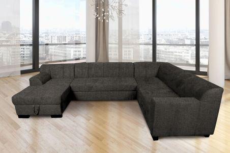 U-образный диван - Falk-P (Pаскладной с ящиком для белья)