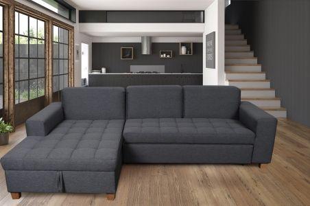 Угловый диван - Sugar-P (Pаскладной с ящиком для белья)