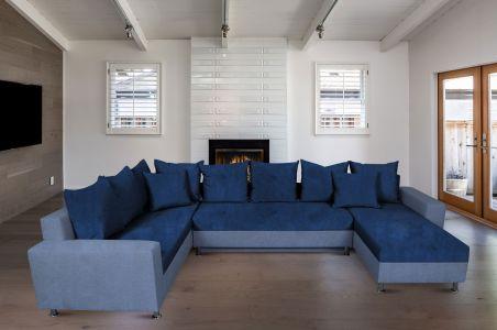 U-образный диван - Toscana I (Pаскладной с ящиком для белья)