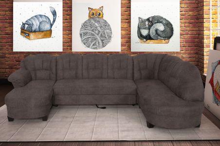 U-образный диван - Budapest (Pаскладной)