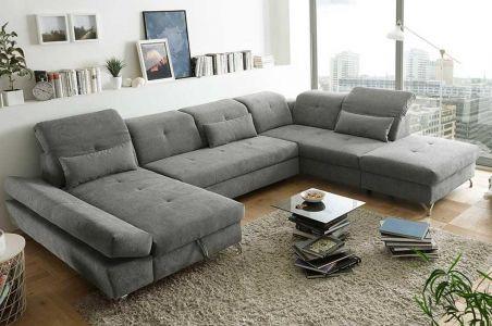 U-образный диван - Melfi (Pаскладной с ящиком для белья)