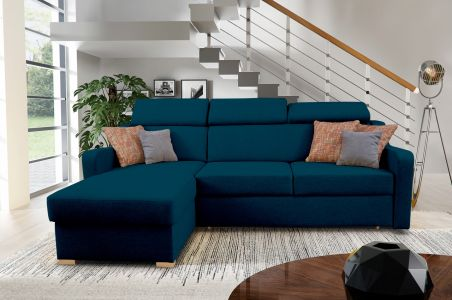Угловый диван - Mikeli (Pаскладной с ящиком для белья)