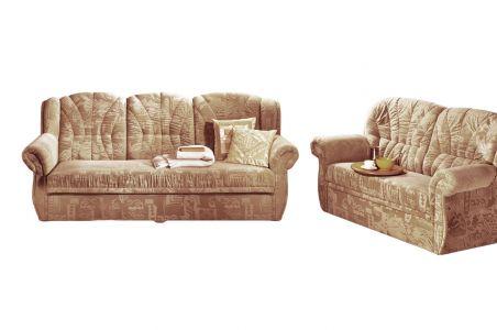 Dīvānu komplekts 3-2 - Caorle (Izvelkams ar veļas kasti)