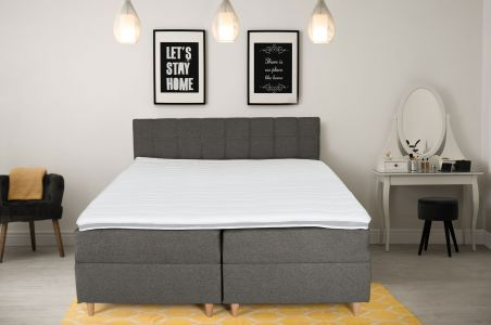 Kontinentālā gulta 160x200 - Ibiza (Izvelkams ar veļas kasti)
