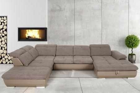U-образный диван - Andy 2 (Pаскладной с ящиком для белья)