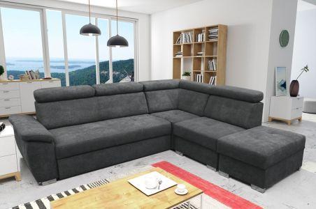 Stūra dīvāns XL - Theo (Izvelkams ar veļas kasti)
