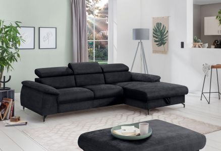 Corner sofa - Komaris (Pull-out with laundry compartment)