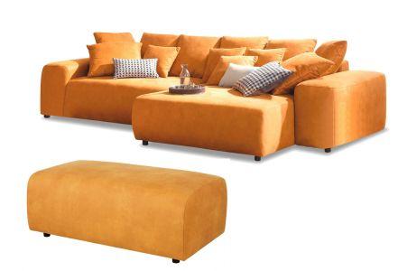 Угловый диван - Glamour (Pаскладной с ящиком для белья)