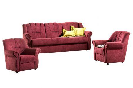 Dīvānu komplekts 3-1-1 - Luisa (Izvelkams ar veļas kasti)