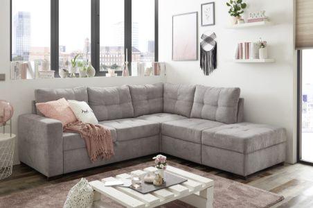 Угловый диван - Adone (Pаскладной с ящиком для белья)