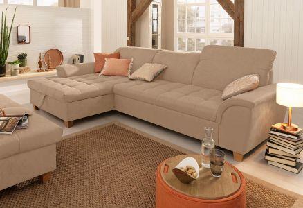Dīvāns ar koka kājām