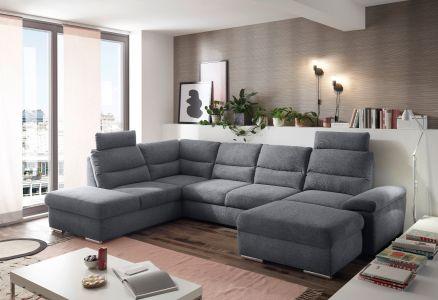 U-образный диван - Alma (Pаскладной с ящиком для белья)