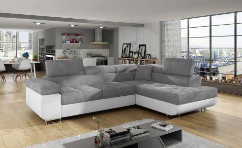Stūra dīvāns - Anton (Izvelkams ar veļas kasti)