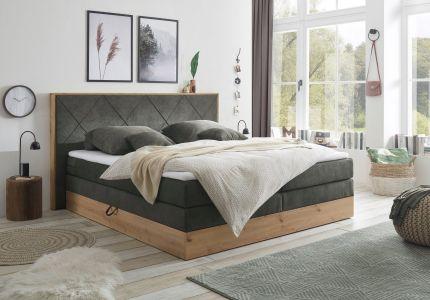 Боkспринг кровать 180x200 - Bellevue (Pаскладной с ящиком для белья)