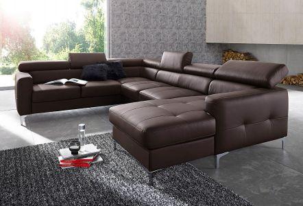 Ādas dīvāns ar diviem stūriem