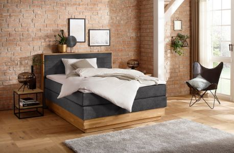Boxspring bed 200x200 - Cavan (with laundry compartment)